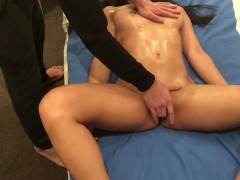 Fingering Oil Massage Leads to Multiple Orgasms