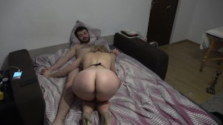 She loves anal with a dildo in her pussy! Wild cougar