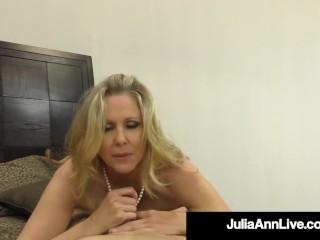 Cock Sucking Milf Julia Ann Milks A Hard Throbbing Dick!