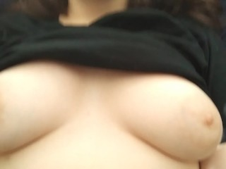 Teasing You With My Cute Little Tits & Big Pink Nipples
