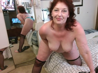 V 406 Stripping out of  blue bra n thong and fishnet to with lots of my sweet kisses and dirty talk