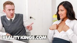 Reality Kings - Asian exchange student May Thai takes big cock
