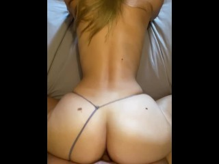 Big juicy round ass taking cock doggy style