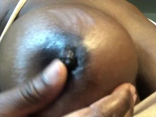 Busty Ebony Teen Plays With her Big Tits