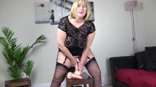 2 Thick Dildo Testing. English mature tests out 2 thick dildos