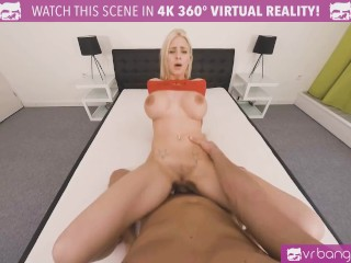 VR BANGERS Naughty Blonde With Huge Tits Spying On Neighbors