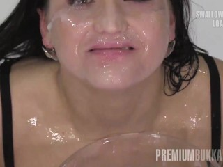 Premium Bukkake – Barbara Bieber swallows 68 huge mouthful cum loads