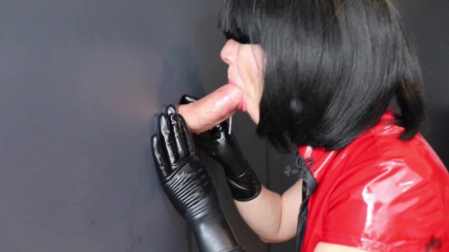 Gloryhole Gloves Cumslut Wife Sloppy Spit Deepthroats Strangers
