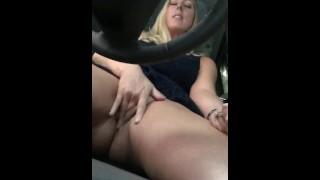 Milf Car Masturbation
