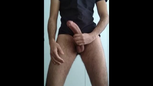 Hairy Turkish Guy with Huge Cock Big Cumshot
