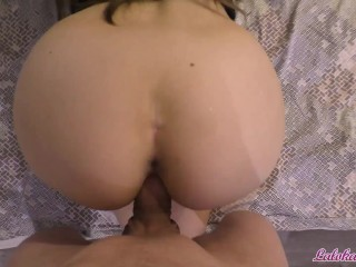 Girl Trying on Panties and Deep Sucking Cock and Fucking