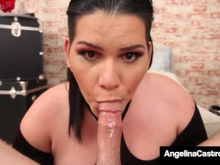 Can't Pay Rent! BBW Angelina Castro Face Fucks Her Renter!
