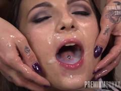 Premium Bukkake - Kristy Black swallows...