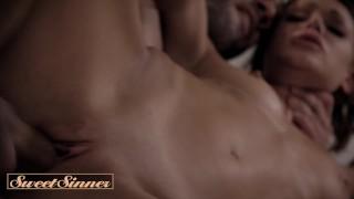 SweetSinner- Skinny inked Emma Hix rides husbands big dick