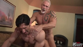 Hunk Muscle Bottom Sir Jet Fucked hard by Daddy Dallas Steele