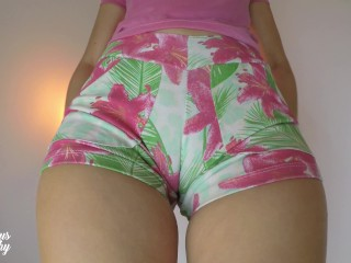 Preview 1 of The Hottest Mini Shorts try on Haul! (Wow! Cameltoe)