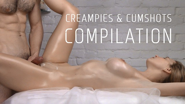 COMPILATION of (中出)creampies and Cumshots Vol. 4