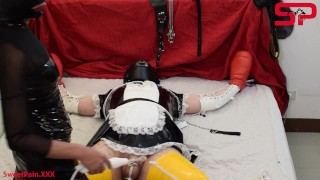 S02E01 Dominatrix Tortures Tied Up Sissy With Extreme CBT DEMO