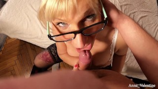 Anna Valentine seducing a masked young guy PART 1
