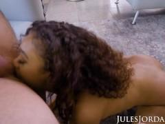 Jules Jordan - Ebony Beauty Scarlit Scandal Begs For More Cock