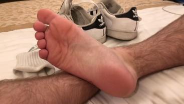 Using Adidas Superstar as a fucktoy