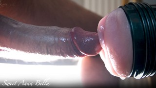 my cock filled with lubricant i fuck my fleshlight deeply and hard ruined