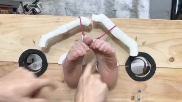 Kay toes restrained tickle torture