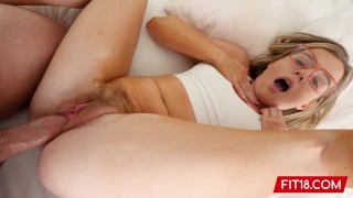 FIT18 - Nikki Sweet - Casting Creampie A Girl WIth Glasses