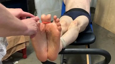 Total gym tickle torture