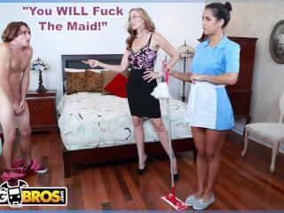 BANGBROS - MILF Julia Ann Gets Her Step Son To Fuck The Latin Maid