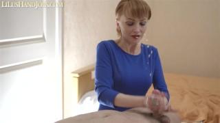 Sexy Hands & Long White Nails Teasing HandJob - Edge Denail - Big Balls Huge CumShot _ LiLusHandJobs