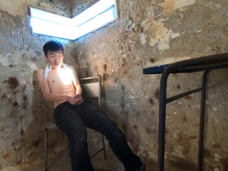 Young Asian Boy Jerking in a Watchtower - Adventures of Stallion n Bunny 61