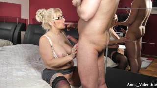 Anna Valentine seducing a masked young guy PART 2