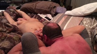 TJ loses her mind, her husband never ate her pussy like this