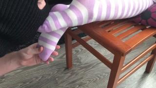teen knee socks worship & humilation smell and sniff girl socks