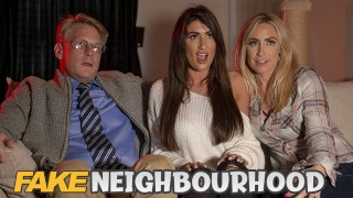 Fake Hub Originals - Busty MILFs Karlie Simon & Princess Jasmine sharing cock in 3some