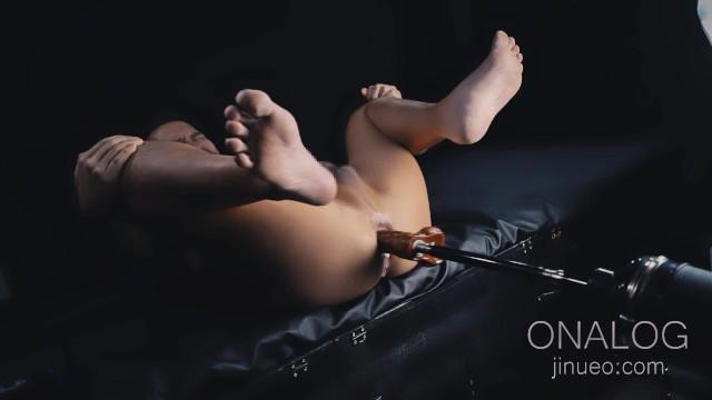 【ONALOG】セックスマシーン(ピストンマシーン)で大量潮吹き&失禁
