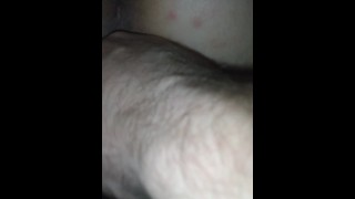 Playing with BBW wife from behind