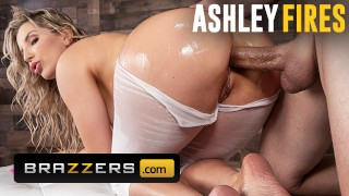 Brazzers - Thicc Ashley fires get ass fucked through yoga pants
