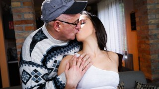 Screen Capture of Video Titled: GrandpasFuckTeens She Asked Her Neighbor To Warm Her Up