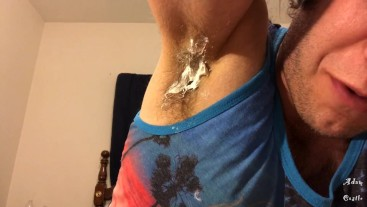 Whipped Cream Hairy Armpit Lick Gay JOI