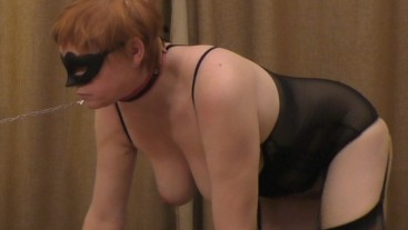 Submissive MILF in stockings fucked in rough way