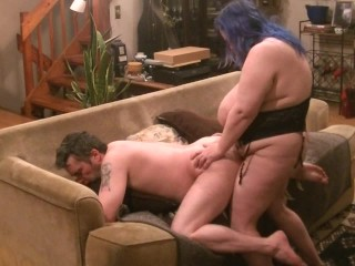 My fuck slut taking a good hard pegging from my big strapon cock