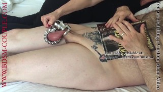 Miss M. plays with the most EXTREME COCK CAGE ever built!