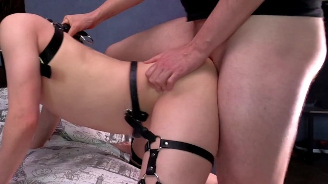 Awesome mans fuck on the edge of the bed and massive anal creampie