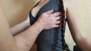 sensual nipple sucking and a real female orgasm from fingers