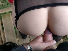 Ana_lingus - got horny in the woods, bj fucking, cum on my ass and cumwalk | Recorded Cam Show