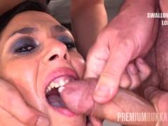 Premium Bukkake - Ashley Ocean swallows...
