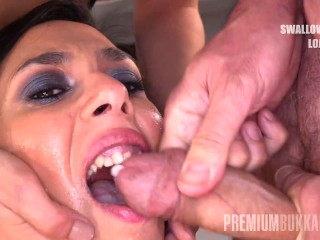 Premium Bukkake – Ashley Ocean swallows 39 huge mouthful cum loads