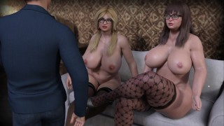 CURVY COUGARS STREET: THREESOME WITH LESBIANS (PART 5)